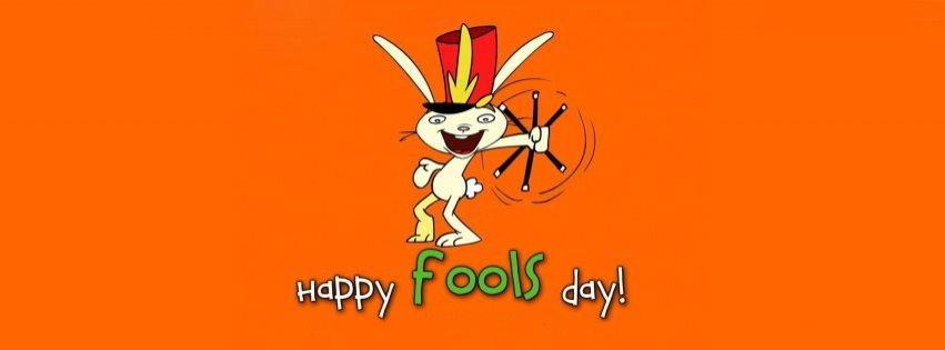 April Fools Magician Rabbit Facebook Cover Photo