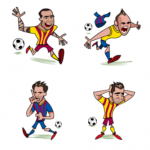 FC Barcelona Facebook World Cup2014 Sticker