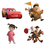 Pixar Facebook Stickers