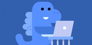 Facebook Privacy Blue Dinosaur