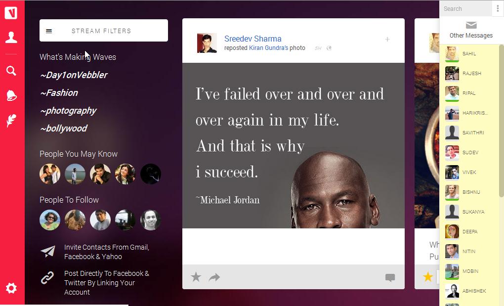 Vebbler redesign 2014: New Homepage