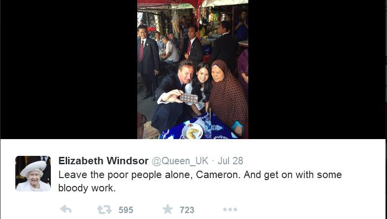 Elizabeth Windsor Tweet