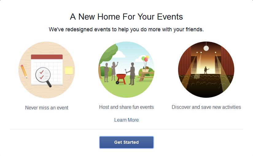 Facebook Events New Design 2014