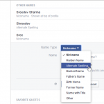 Facebook Now Lets You Add More Alternative Names