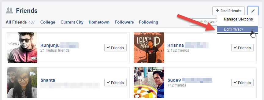 How to Hide Your Facebook Friends List From Public and Other Friends 2014 -Step#1