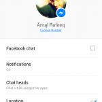 Facebook Messenger Settings Tab