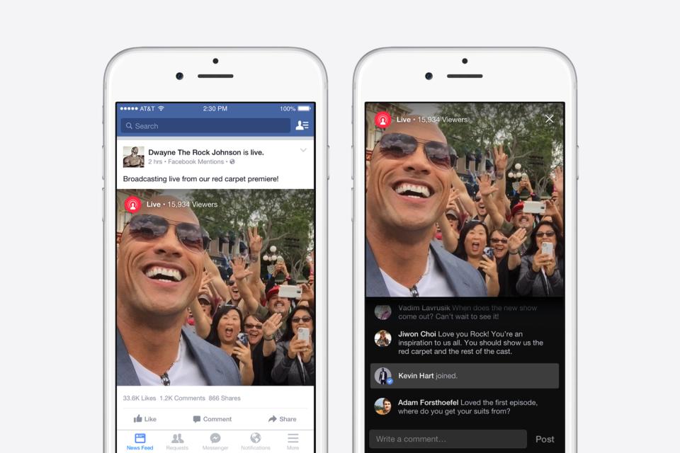 facebook mention live